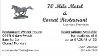70 Mile Motel & Corral Restaurant